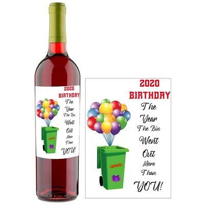 Personalised Funny Rude Wine Bottle Label For Birthday Anniversary BL065 • 2.79£