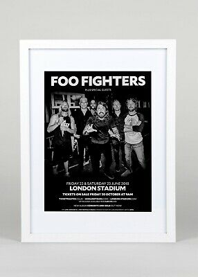 Foo Fighters+ Live At The London Stadium September 2018 +tour Poster+ad+rare Ori • 60£
