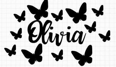 £3.79 • Buy Personalised Name Butterfly Stickers Wall Vinyl Baby Nursery Bedroom Any Colour