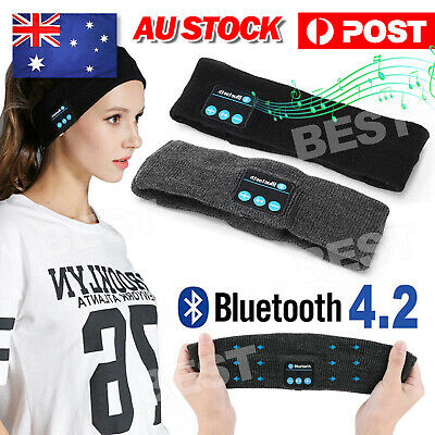 AU11.95 • Buy Wireless Bluetooth Headband Earphone Stereo Sport Headphone Headset Sleep NEW