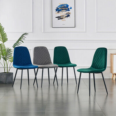 AU240 • Buy 1/2/4/6 Dining Chairs Velvet Padded Seat Kitchen Office Restaurant Lounge Chairs
