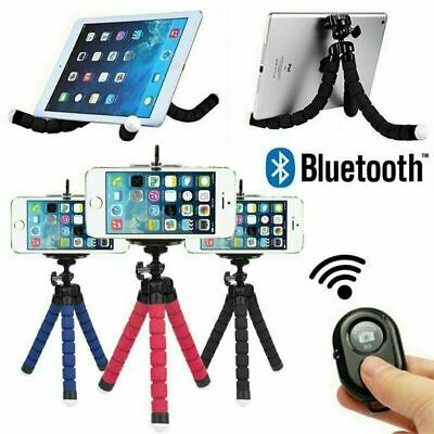 Universal Mobile Phone Holder Tripod Stand For IPhone Camera Samsung +Remote _UK • 5.89£