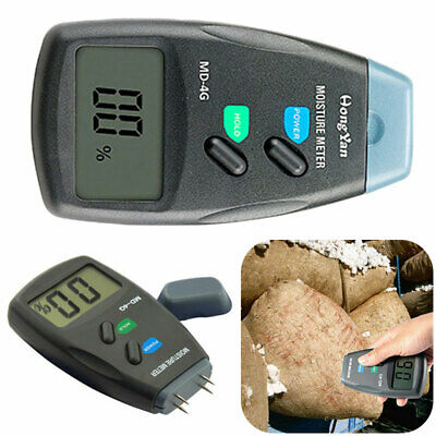 4-Pin Pro Digital Moisture Meter Damp Detector Timber Wood Tester Plaster Sensor • 10.22£