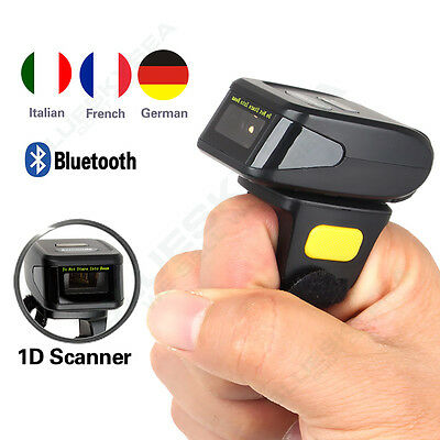 High Performance DC-R30 Ring Finger Barcode Scanner Fit For Android IOS Phones • 55.32£