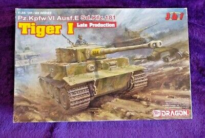 Dragon 6406 1:35 Tiger I Late Production Heavy Tank Model Kit *SEALED IN BAGS* • 49.99£