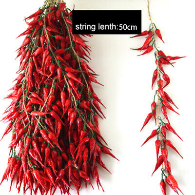 Artificial Chili Strands Fake Plastic Fruit Vegetable Faux Food Home Decoration • 13.83£