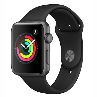 $ CDN215.02 • Buy Apple Watch Series 3 38mm GPS - Space Gray - Black Sport Band