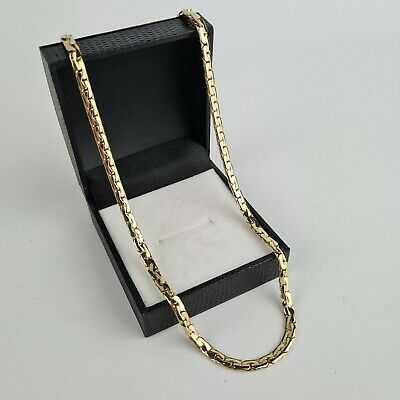 Gold Plated 22  Flat Lay Necklace Womens Cable Braided Snake Chain 14K GP 22g • 24.99£