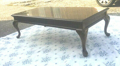 £40 • Buy Vintage Mahogany Antique Style Coffee Table Ornately Carved With Cabriole Legs