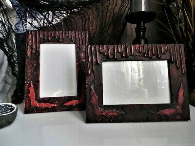 Halloween Gothic Picture Photo Frame 6x4 Altered Vampire • 11.59£