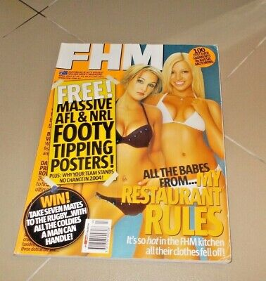 AU19.80 • Buy FHM My Kitchen Rules  Issue 72 April 2004 Tipping Posters Still Intact Mb1