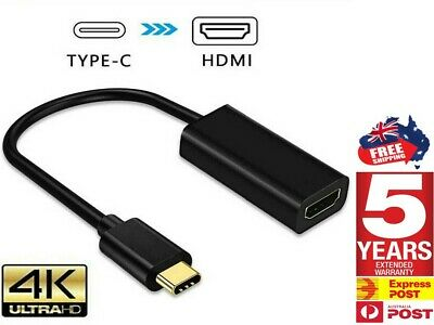 AU9.24 • Buy 4K Type C To HDMI Adapter 30Hz USB C 3.1 Male To HDMI Female Cable FOR Iphone AU