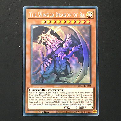 AU579.99 • Buy (C) GHOST RARE The Winged Dragon Of Ra - LED7-EN000 Ghost Rare 1st Edition
