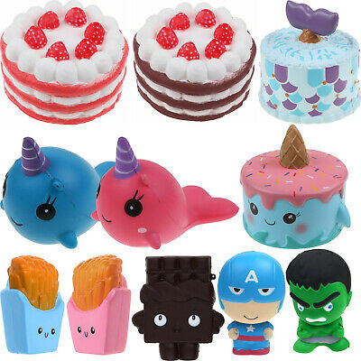 AU13.99 • Buy Collection Squeeze Jumbo Stress Soft Squishy Cream Scented Slow Rising Toy Gift