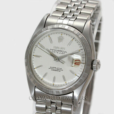 $ CDN5279.57 • Buy Rolex Vintage Datejust Ref 6605 White Dial Black/Red Date Stainless Steel