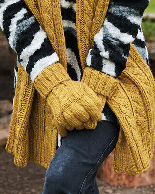 £10.99 • Buy Cable Knit Chunky Melange Gloves Walking Hiking Sports Cycling Work Skiing