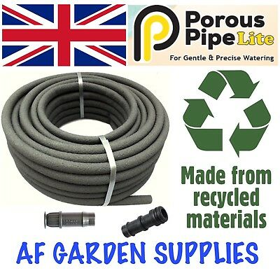 Porous Pipe Lite Soaker Hose 20mx13mm Roll. Garden Irrigation Leaky Watering  • 17.99£