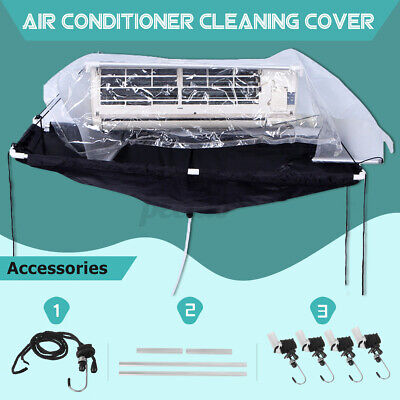 AU75.36 • Buy Wash Cover Air Conditioner Cleaning Bag Wall Mounted Waterproof Fabric Protector