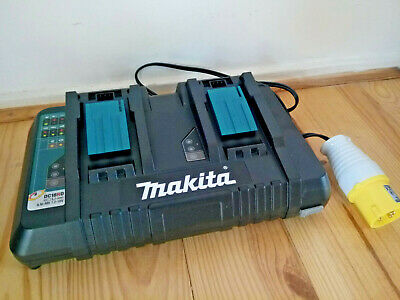 New Makita Dc18rd/1 110v Double Charger For 14.4-18v LXT Makita Batts, With USB  • 100.99£