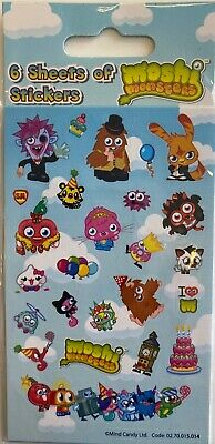 £1.89 • Buy MOSHI MONSTERS Pink Party Stickers (6 Sheets) - Loot Bag Fillers