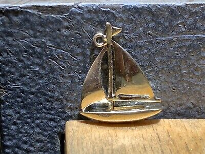AU65 • Buy 9ct Yellow Gold Charm 375 Gold Yacht/Sailing Boat Charm English Hallmarks