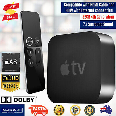 AU241.72 • Buy New Apple TV 4th Generation 32GB Full HD High Definition Media Streamer HDMI