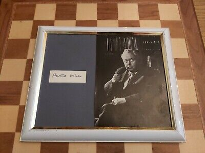 £24.99 • Buy Signed Framed Mounted Card With Photo Former Prime Minister Harold Wilson