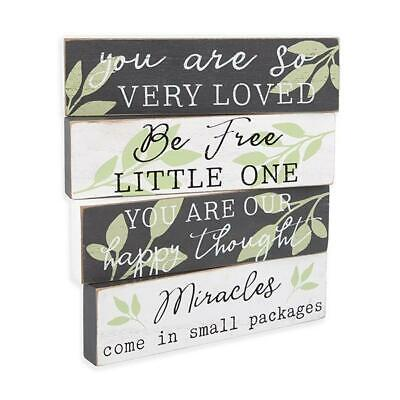 £14.41 • Buy Inspirational Children's Wooden Block Sign Set You Are Loved Baby Gift