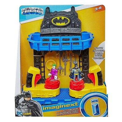 Imaginext FKW12 Battle Bat Cave With Batman And Joker Figures And 4 Additional • 39£