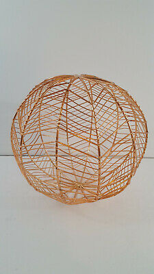 Rose Gold Decorative Metal Sphere Ball Wire 8  Pink Copper • 4.89£