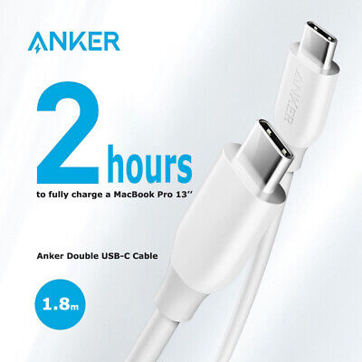 AU24.99 • Buy Anker 1.8M Double USB-C 2.0 Powerline Cable 3A PD Quick Chager 480mbps 60W A8182