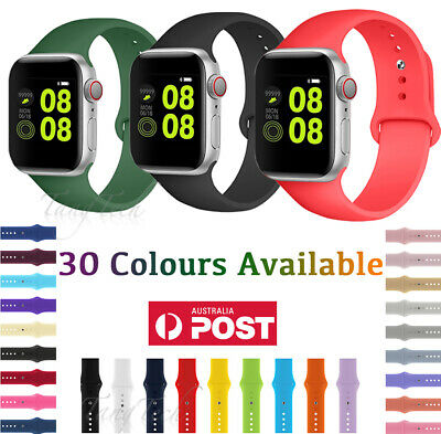 AU6.74 • Buy For Apple Watch IWatch Series 123456 Silicone Replacement Strap Band 3840 4244m