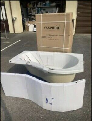 Essential 1500mm P Shape Bath With Shower Screen & Side Panel - Complete Set • 160£