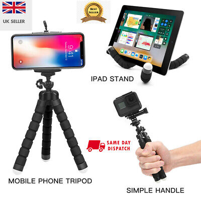 Universal Mobile Phone Holder Tripod Stand For IPhone Camera Samsung UK SELLER • 5.99£