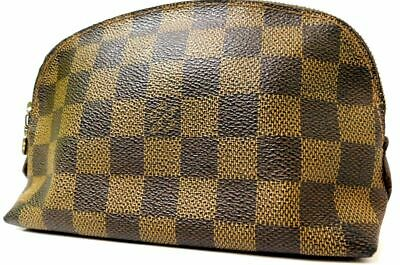 Louis Vuitton Damier Vanity Party Ivory Hand Bag Purse Cosmetic Case • 114.55£