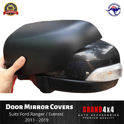 AU48 • Buy Door Mirror Cover Matte Black To Suit Ford Ranger PX PX2 PX3 Everest 2011 - 2019