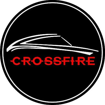 Chrysler Crossfire Wheel Centre Cap Badges (4pc - Black/chrome/red) • 29.99£