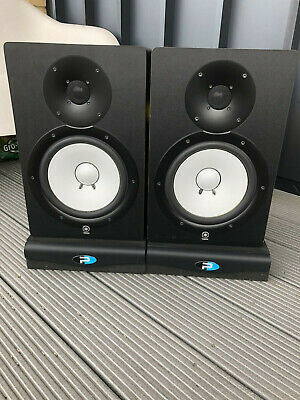 Yamaha HS80M Active Studio Monitors X2 And Primacoustic Recoil Stabilisers X2 • 450£