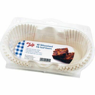 Tala Siliconised Greaseproof Loaf Tin Liners (Set Of 40) 1lb - 10A 05201 • 15.74£