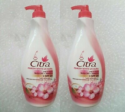 $ CDN48.01 • Buy 400ml X 2 Bottle Citra Lotion Sakura White UV Hand Body Moisturizers PA