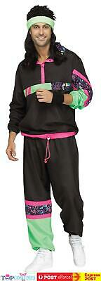 AU47.45 • Buy Mens 80s 90s Tracksuit Costume Shell Suit Retro Fancy Dress Outfit Scouser