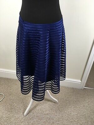 Somerset By Alice Temperley Blue Skirt, Size 12, Net Over Lining Pretty • 25£