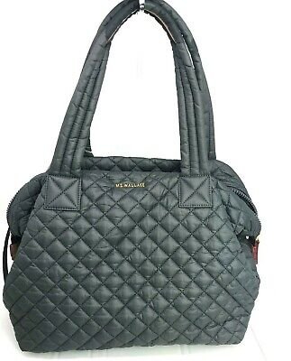 AU256.99 • Buy New W/tag $245.  MZ Wallace LARGE SUTTON BAG. Gray. Quilted