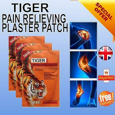 TIGER Pain Relieving Patches For Relief Of Aches Of Muscles Arthritis Strains • 4.30£