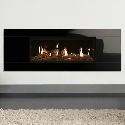 Gazco Studio 2 Glass Fronted Gas Fire Black Glass Interior & Frame • 3,795£