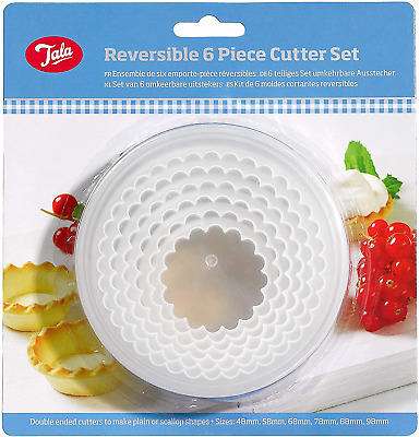Tala Pastry Set Of 6 Plastic Cutters, White • 7.38£