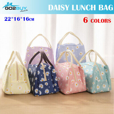 AU6.95 • Buy Daisy Oxford Portable Insulated Thermal Cooler Lunch Box Picnic Case Storage Bag