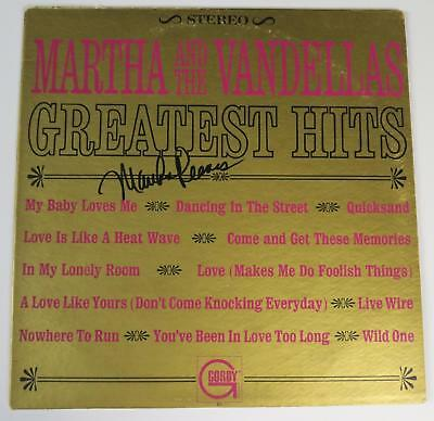 MARTHA REEVES AND THE VANDELLAS Signed Autograph  Greatest Hits  Album Vinyl LP • 54.26£