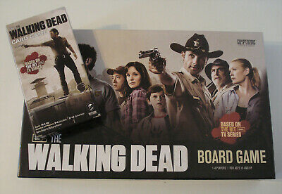 THE WALKING DEAD Board Game + Card Game - Official TV Series Edition EX Complete • 9.99£