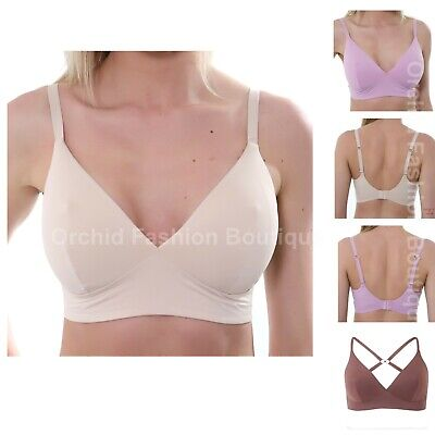 S 10 Elle Macpherson The Body Crop Top Plunge Bra 1001 Wire Free Non Padded